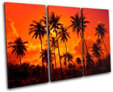 Palm Trees Sunset Seascape - 13-1829(00B)-TR32-LO